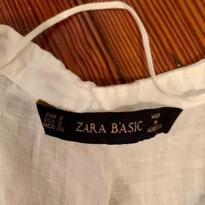 Zara Basic white blouse button small